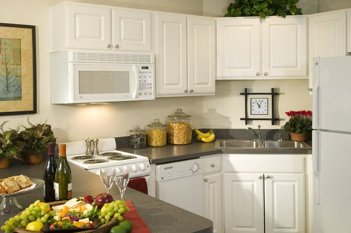 Most apartments are equipped with a full kitchen ideal for those hosted dinner parties.