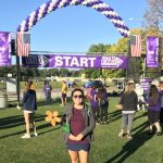 Sales Associate at St. Andrew's Village, Katie, joins the walk in support of the fight to end Alzheimer's.