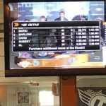 Scores were posted in the restaurant during each race.